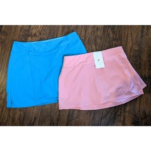 Lot of 2 Golf Skorts Fabletics and Adidas Sz LG
